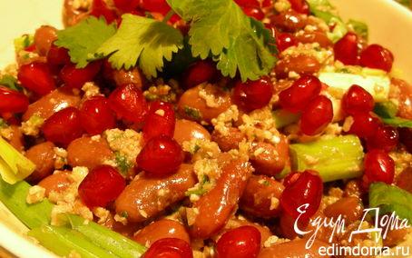 Рецепт Лобио с гранатом и грецкими орехами