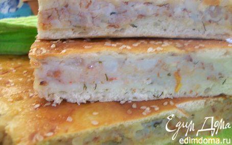 Рецепт Пирог из дрожжевого теста с картофелем, гречкой и укропом
