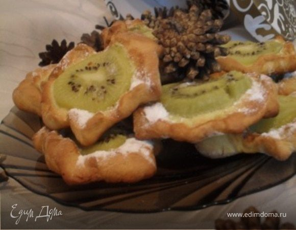 Песочное печенье с киви.