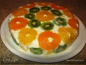 Перевернутый апельсиновый торт