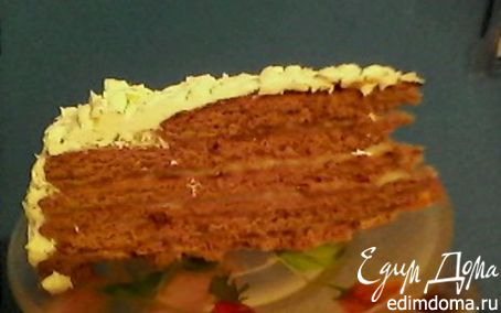 Рецепт Шоколадно-медовый торт на сковороде