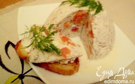 Рецепт Паштет из слабосоленой семги под соусом.