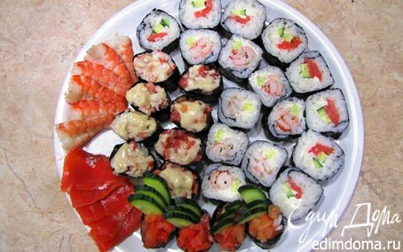 Рецепт Японская кухня: Сашими, Гунканмаки, Маки (повтор)