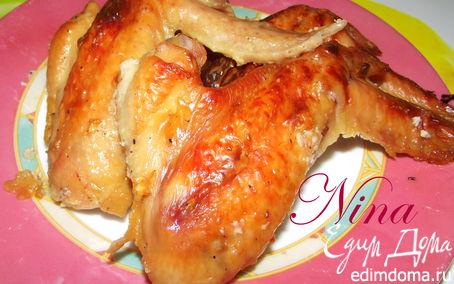 Рецепт Куриные крылышки в сырном маринаде