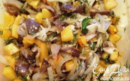 Рецепт Салат из тыквы с грибами