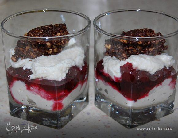 Вишнёво-творожный десерт