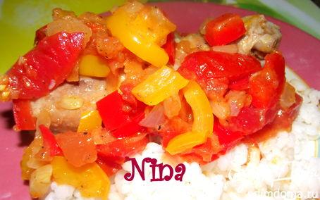 Рецепт Курица, запеченная с овощами