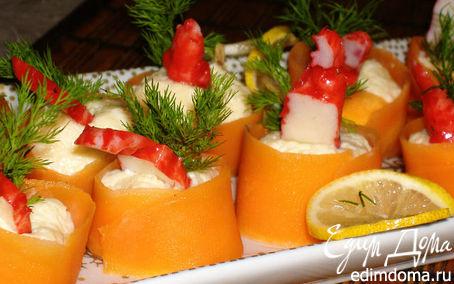 Рецепт Роллы из моркови с креветками