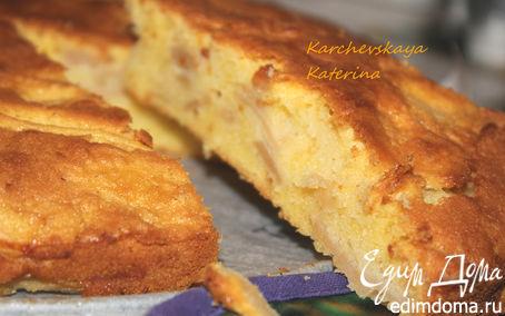 Рецепт Яблочный пирог с полентой