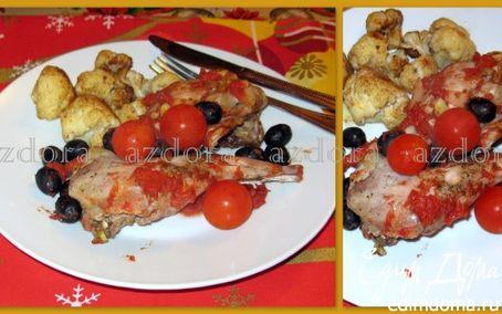 Рецепт Кролик в фольге с пряной цветной капустой