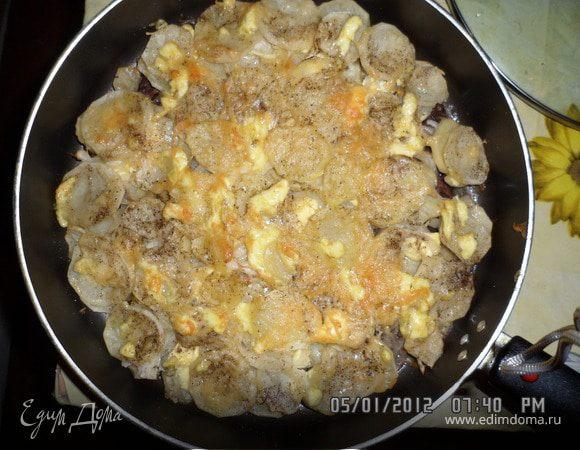 Картошка с мясом по французски