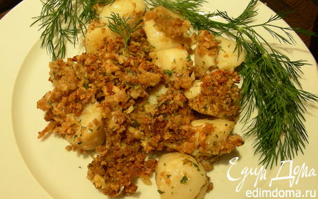 Рецепт Морские гребешки (или рыба) под хрустящей пряной корочкой