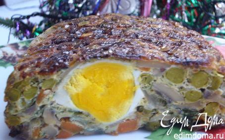 Рецепт Террин куриный с грибами и яйцами