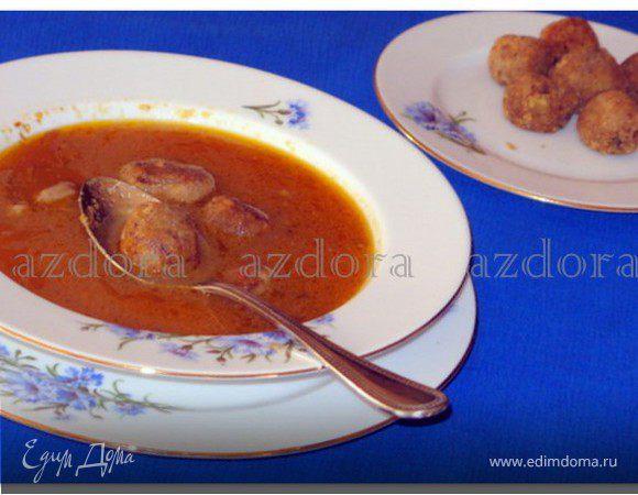 Суп из бычьего хвоста с хлебными клёцками