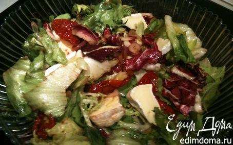 Рецепт Салат с вялеными помидорами и мягким сыром