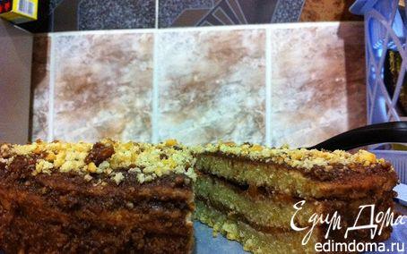 Рецепт Бисквитник с шоколадно-абрикосовой прослойкой