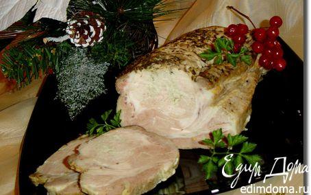 Рецепт Свинина, запеченная на луковой подушке с итальянскими травами и чесноком