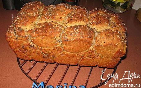 Рецепт Обезьяний картофельный хлеб с травками и чесноком в хлебопечке