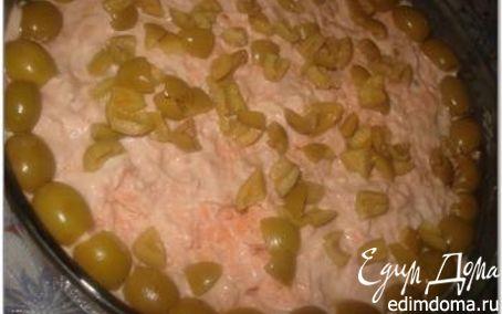 Рецепт Салат с красной рыбой и мидиями