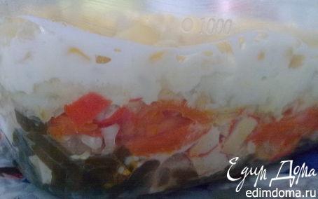 Рецепт Салат из морской капусты с овощами