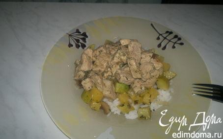 Рецепт Рис арборио с гавайским чатни и свинина тушеная с травами