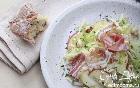 Рецепт Салат с яблоками, фенхелем и свиной грудинкой