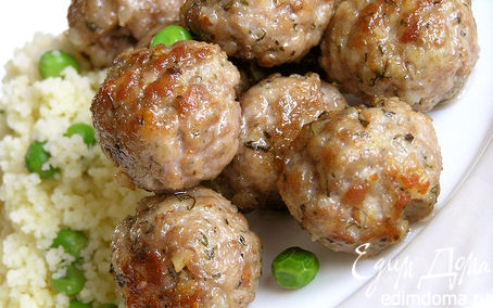 Рецепт Шарики из свинины с травами и орешками