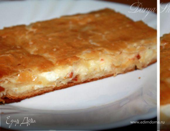 Пирог с брынзой и моцареллой