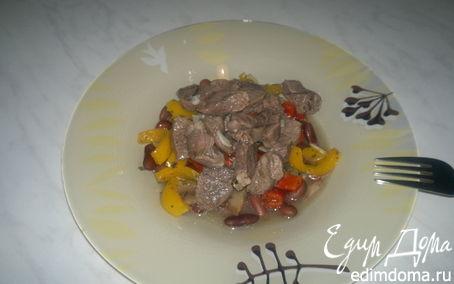Рецепт Похлебка из фасоли со сладкими перцами и бараниной в уцхо сунели.