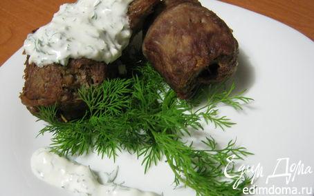 Рецепт Медальоны с грецкими орехами и укропным соусом