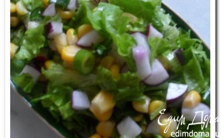 Рецепт Салат с кукурузой и редиской