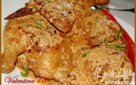 Рецепт Цыпленок тапака по-шкмерски.