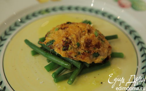 Рецепт Биточки из сладкой картошки с тунцом