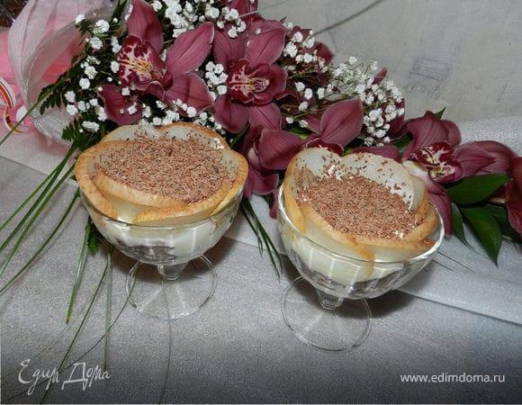 Шоколадное тирамису с грушей