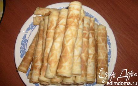 Рецепт Вафельные трубочки в вафельнице