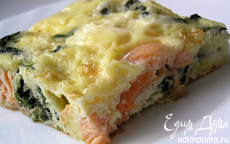 Рецепт Фриттата с лососем и шпинатом
