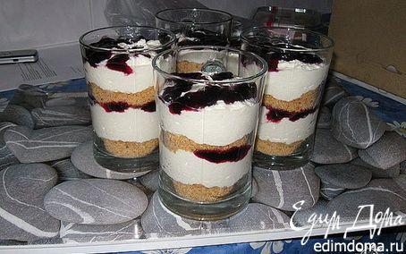 Рецепт Холодный творожный тортик с белым шоколадом и крошкой от Карин Горен