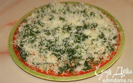 Рецепт Сырный салат с грибами