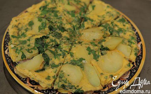 Рецепт Испанский омлет со шпинатом