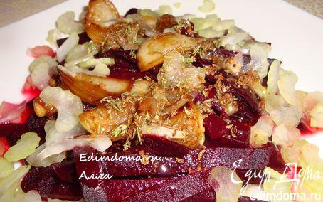Рецепт Пряный салат из свеклы