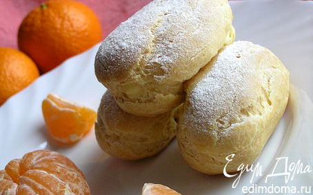 Рецепт Эклеры с мандариновым кремом