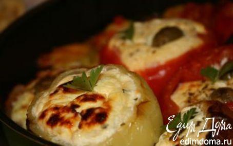 Рецепт Перцы фаршированные сыром и творогом