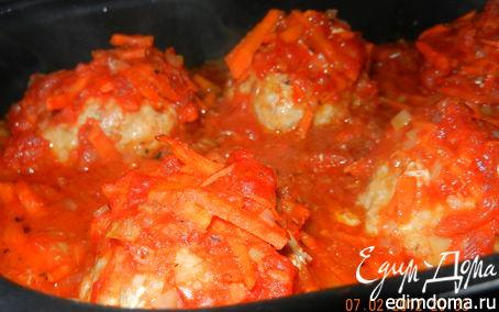 Рецепт Рыбно-пшённые тефтели в томатном соусе в аэрогриле
