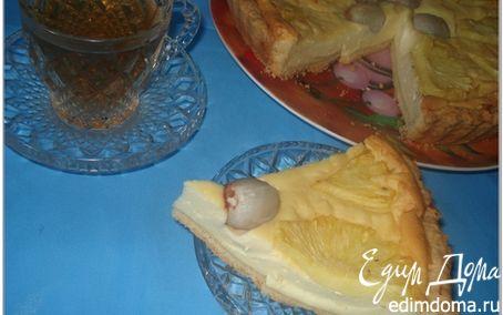 Рецепт Творожный тортик с ананасом и личи (для всех моих друзей)