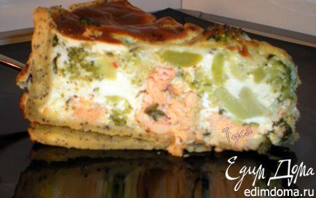 Рецепт Пирог с сёмгой и брокколи