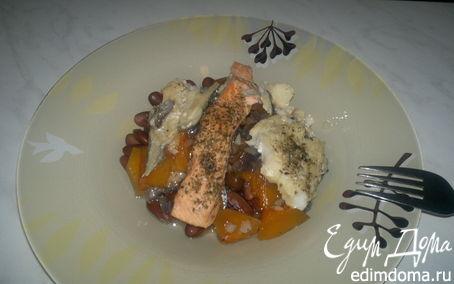 Рецепт Фасолевая похлебка с рыбным миксом и овощами