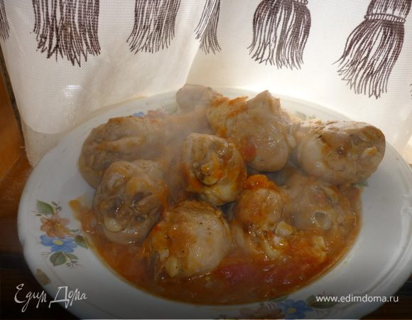 *Плакия*(курица,тушённая в овощном маринаде по-болгарски)
