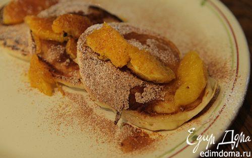 Рецепт Оладьи с апельсиновым соусом и корицей