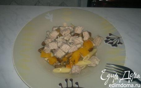 Рецепт Паста со свининой, тыквой и грибами
