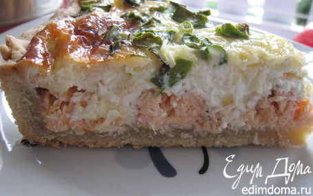 Рецепт Пирог с лососем и сыром